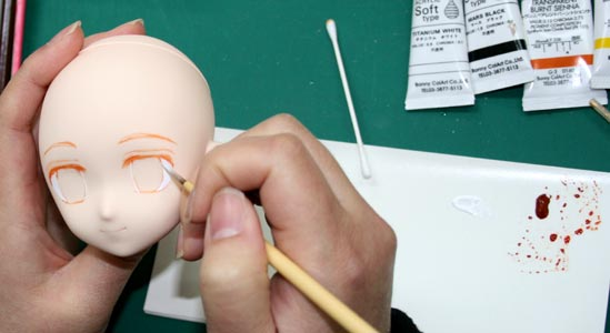 Anime style face-up tutorial with Parabox P-chan head